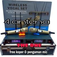 mic wireless sennheiser skm 9000 4 antena multi channel + koper.