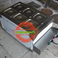 Stainless Steel Bain Marie Portable /Penghangat Makanan Portable