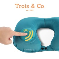 COMPACT HAND-PUMPED NECK PILLOW