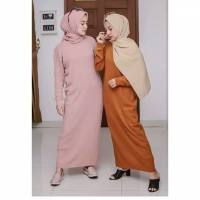 Baju Gamis Rajut Wanita Muslim Terbaru BOXY LONG DRESS MURAH