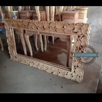 Cermin badan/ Figura ukir kayu jati mentahan