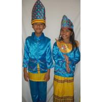 Baju adat anak Prov-Sulawesi Tenggara -Harga Sepasang ( LK & PR ) - 5-6 tahun