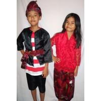 Baju adat anak Madura-Harga sepasang ( LK & PR ) Baju adat anak