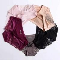 Celana Dalam underwear Wanita Seksi Seamless big size Renda