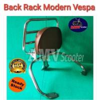 Back Rack Vespa GTS Super. Backrest Vespa GTS Super. Sa MTR7