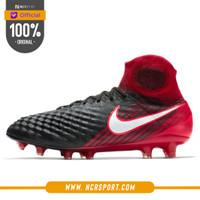 Sepatu Bola Nike Magista Obra II FG Black Red Original 844595-061