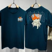 T-shirt Baby King / Baju Kaos Distro Pria Wanita Hitam Pendek Slimfit