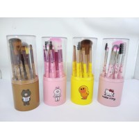 KUAS TABUNG KARAKTER LINE HELLOKITTY BRUSH MAKE UP SET APPLICATOR