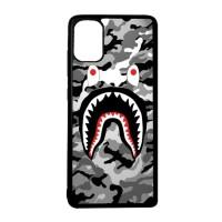Casing Custom Case SAMSUNG A51 Case Softcase Motif Bape Camo Shark 04