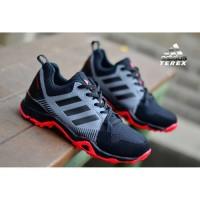 Sepatu adidas ax2 terex sneakers hitam merah