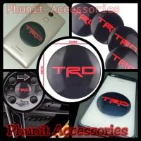 Emblem sticker bulat 5.6cm Toyota TRD untuk mobil motor laptop hp