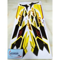 Stiker Striping Motor MIO SPORTY LIMITED EDITION kuning