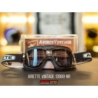 Ariete Vintage Googles 13990-NR Black (White) Strap Helm Kacamata