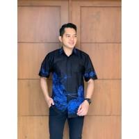 kemeja batik pria exclusive hem batik baju lengan pendek