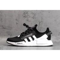Sepatu Adidas Nmd R1 V2 Runner Black White Premium Original Pria