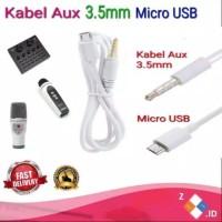 Kabel Soundcard Mixer V8 KTV WS858 WS1816 Q9 Q7 micro Usb male to Aux