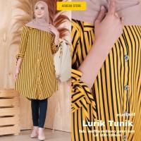 baju atasan wanita tunik muslim murah real pict blouse wanita-lurik tu