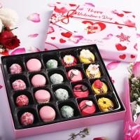 Kado Valentine Cookies, Macaron & Coklat + Bunga Asli (For Her)