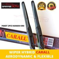 Wiper Kaca Depan Mobil Datsun GO + Hybrid Carall Karet Premium 1pcs