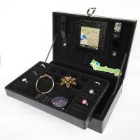 Kotak Perhiasan Koper HITAM FULL / Box Tempat Perhiasan dan Aksesoris