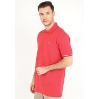 Jack Nicklaus Creggan Polo Shirt Pria Regular Fit Merah