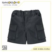 Celana Pendek Bayi Anak / I am Cotton Fifth Pants Cargo Twill Ash