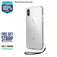 Case iPhone X Xs FUSION Casing Original REARTH RINGKE - Clear