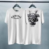 T-shirt Original Primitive / Baju Kaos Distro Pria dan Wanita Putih
