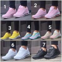 Sepatu Nike Airmax 97 PREMIUM Women Cewek Air Max Pink Blue Yellow Run