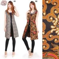 Atasan Bolero Batik Nomik 2in1 Long Blazer Wanita