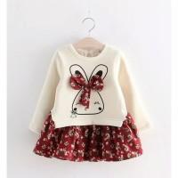Dress Sweater Real Pict Anak Cewe Adem Import Baju Libur Musim Dingin