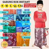 BEST QUALITY Sarung Instant Anak 1-10 Tahun Model Rok / Songkok Instan