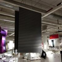 Tirai lipat bahan plastik abu abu gelap gorden hordeng lipat 100x190cm