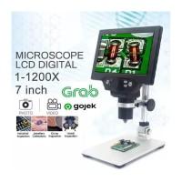 Digital Microscope 12MP 7 Inch 1-1200X Mikroskop LCD Display 7IN G1200