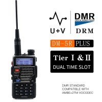 HT BAOFENG DMR DM-5R PLUS DUAL BAND VHF/UHF