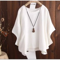 Atasan batwing jumbo Putih [Baju Atasan Wanita 0140] TA1A
