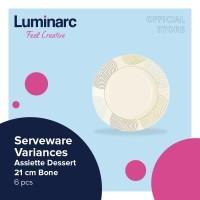 Luminarc Serveware Variances - Assiette Dessert 21 cm Bone - 6 pcs