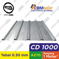 CBMROOF CD 1000 Atap Galvalume/Zincalume/Spandek