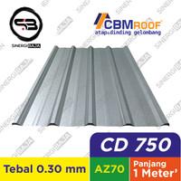CBMROOF CD 750 Atap Galvalume/Zincalume/Spandek - Tebal 0.30 mm