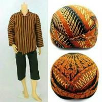 setelan baju surjan dewasa gratis blangkon/baju adat jawa