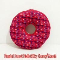 Bantal Donat/Bantal Wasir atau Ambein Motif Bulat Hellokitty Cherry