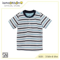 Kaos Polo Anak / Baju Anak Laki laki / I am Cotton Polo Shirt - Stripe