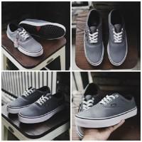 sepatu Vans authentic grey sepatu casual sneakers