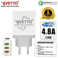 VETTO Charger V801-3M USB Qualcomm 3.0 - 3 Port USB