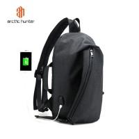ARCTIC HUNTER B00195 Backpack Bag USB 15.6 - Tas Ransel Laptop BLACK