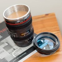 Mug Lensa Kamera + Pouch Canon EF 24-105 Tumbler Unik Gelas Cup B267