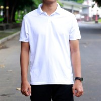 Polo Old Navy Moisture-Wicking Tricot Uniform Polo Shirt Ori Putih