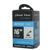 ban dalam sepeda listrik/selis 16 x 2.125 pentil bengkok deli tire