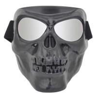 Topeng Kacamata google Masker Motor airsofgun Tengkorak Full Face 09