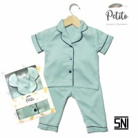 Petito Piyama Baju Tidur Bayi Anak / Green Light